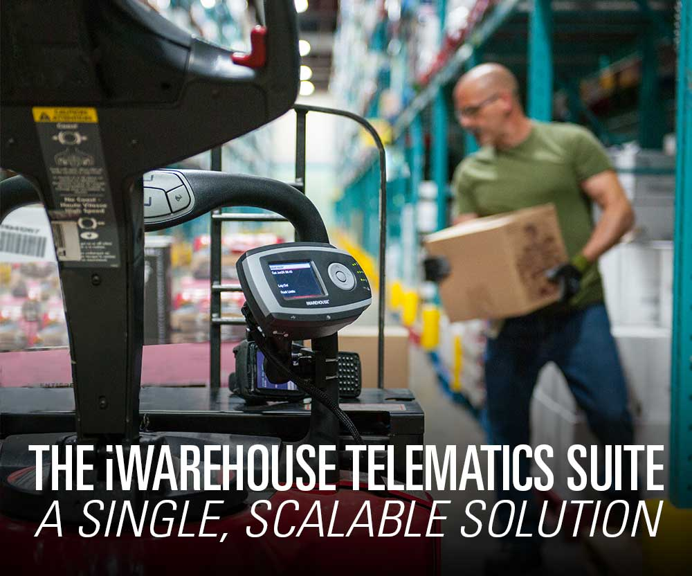 Featured product booth: The Raymond iWAREHOUSE telematics suite; your single, scalable fleet-management solution