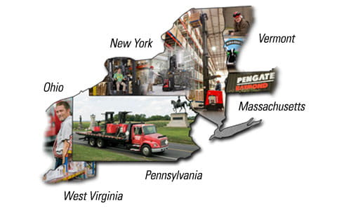 Pengate is your Raymond forklift dealer and full-service material handling solutions provider for PA, NY, MA, VT, OH & WV.