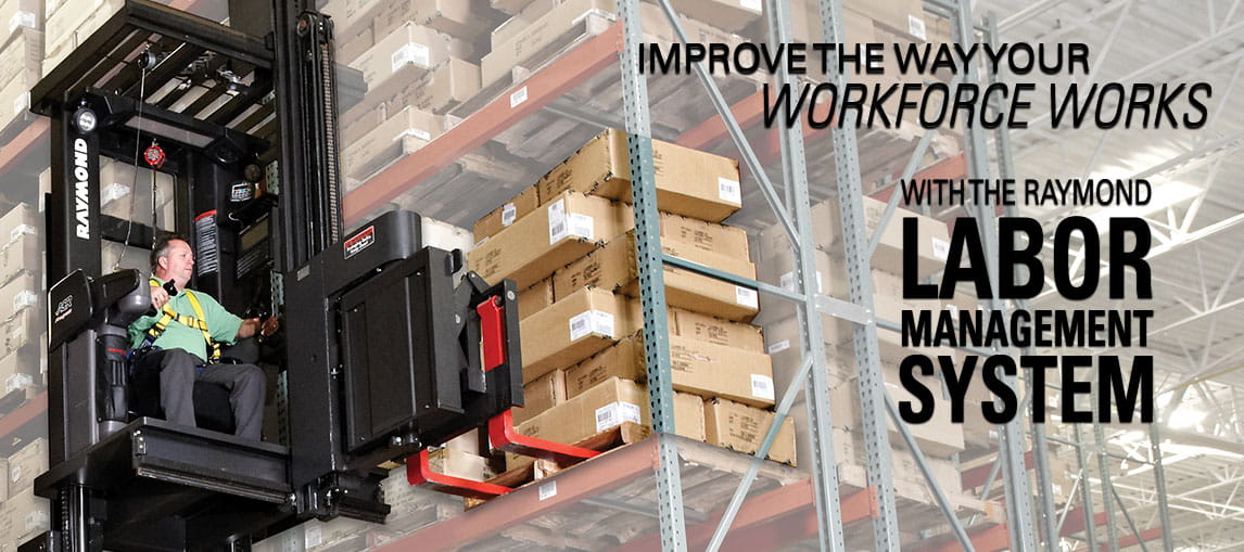 Improve the way your workforce works with the Raymond iWAREHOUSE Labor Management System