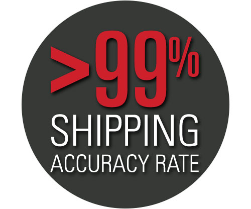 Our forklift parts and warehouse parts team proudly operates at over a 99% shipping accuracy rate.