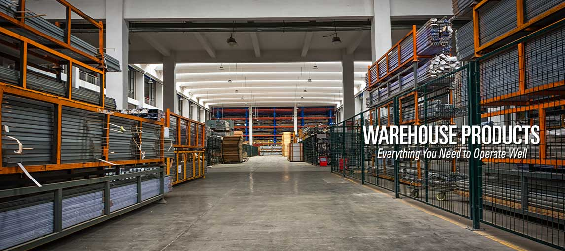 Warehouse products and end-to-end material handling solutions, including power systems, storage solutions, warehouse fans and equipment and supplies.