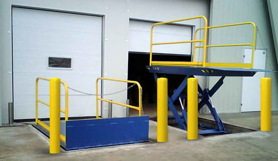 Pengate's dock and door products include warehouse dock lifts and dock lift products.