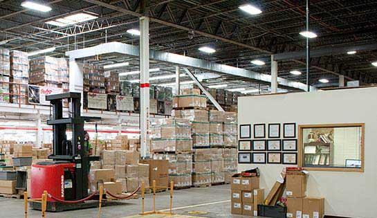 Pengate's comprehensive warehouse storage solutions and storage systems include custom modular offices.