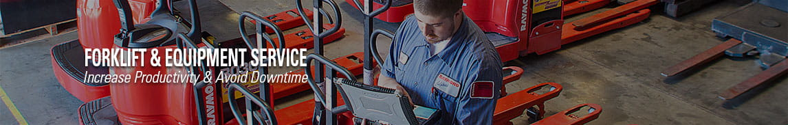 Take advantage of our scheduled maintenance and preventative maintenance service programs for your forklifts and warehouse equipment