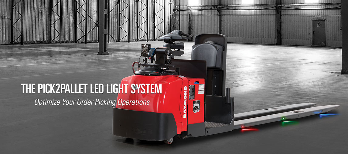 Optimize your order picking and batch picking operations with the Raymond Pick2Pallet LED light system