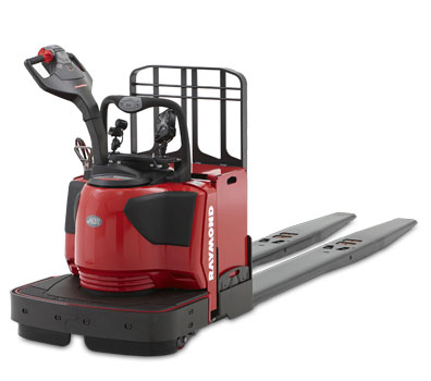The Pick2Pallet LED Light System is compatible with the Raymond 8410 End RIder Pallet Jack