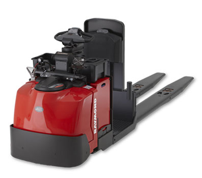 The Pick2Pallet LED Light System is compatible with the Raymond 8510 Center Rider Pallet Jack