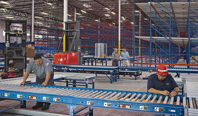 Storage Systems and Conveyor installation
