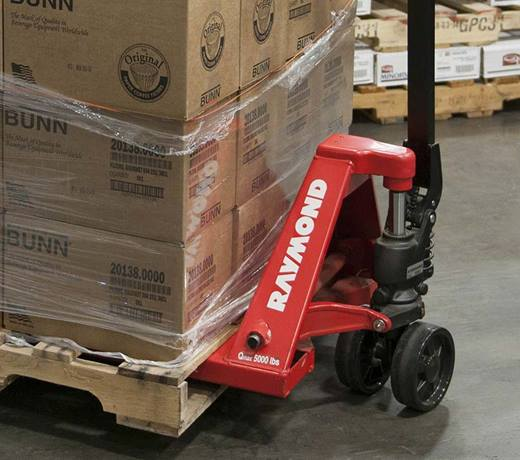 Raymond RJ50 pallet jack truck with easy grease fittings