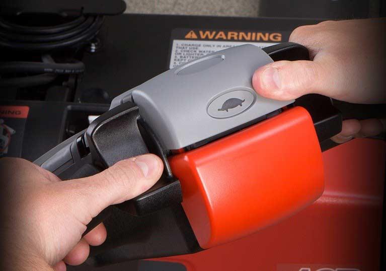 Raymond 8210 walkie pallet jack with click 2 creep
