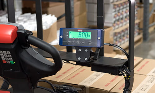 8210 walkie pallet truck, weigh scale