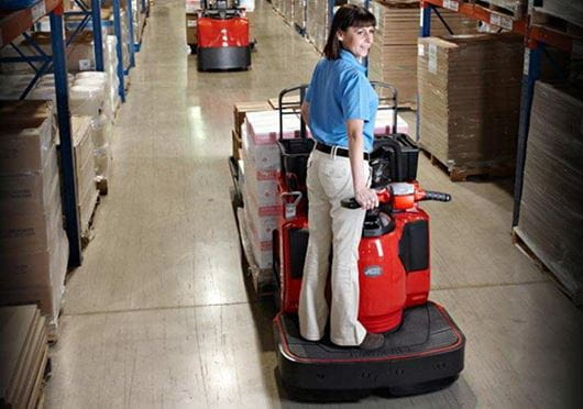 Raymond End Rider Pallet Truck with Operator