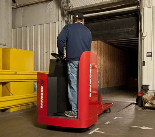 Raymond 8900 Riding Pallet Truck with PowerSteer