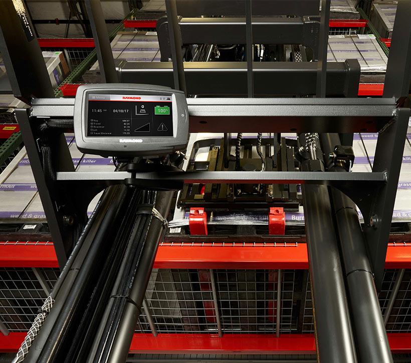 integrated display, telematics, reach truck
