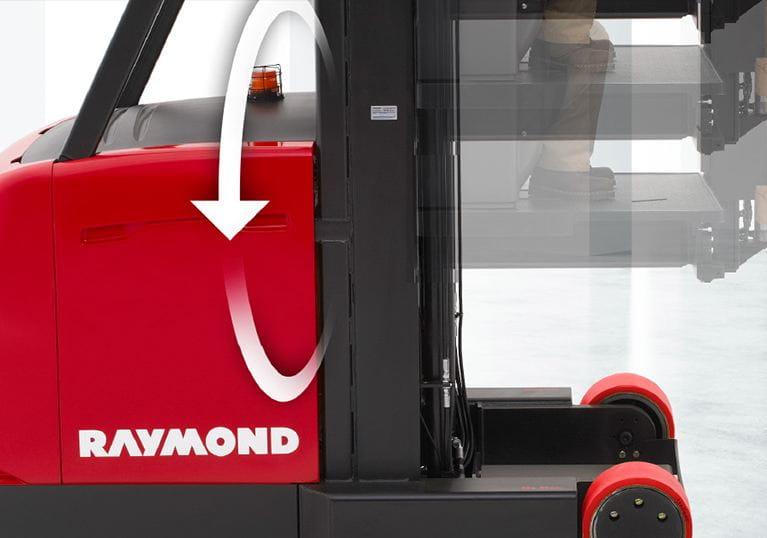 Raymond 9000 Series Swing Reach Truck Regenerative Lowering