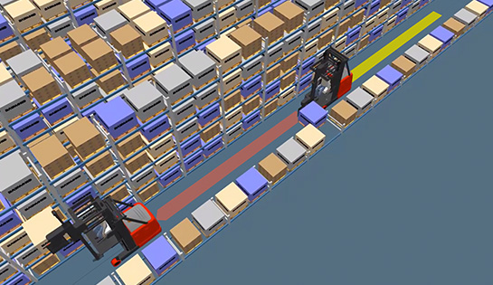 in-aisle detection, warehouse detection